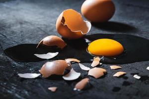 ein zerbrochenes Ei foto