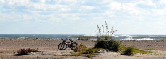 Panoramablick auf einen Strand