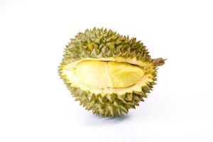 Durianfrucht auf weißem Hintergrund
