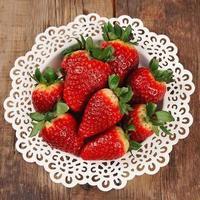 reife Erdbeere foto