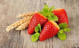 süße Erdbeere foto