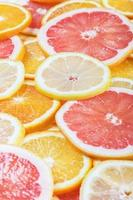 Hintergrund mit Zitrusfrüchten von frisch foto