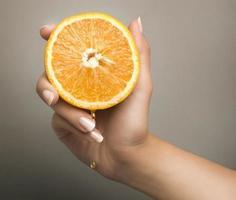 eine halbe Orange foto