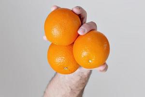 drei Orangen foto