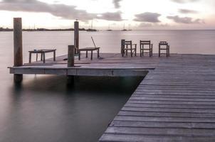 verlassenes Dock foto