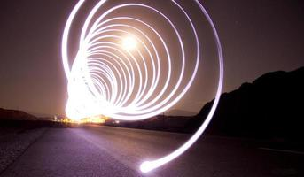 Lichtmalerei Straße
