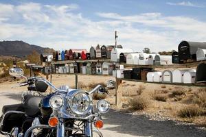 Briefkästen in der Wüste foto