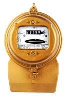 Stromzähler auf weiß foto