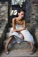 schöne moderne Braut foto