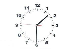 Zifferblatt der Uhr isoliert auf weißem Hintergrund