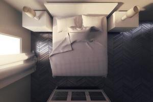 weißes Schlafzimmer foto