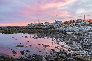 Maine Küste bei Sonnenuntergang foto