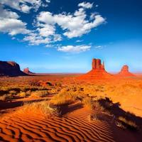 Monument Valley West und East Fäustlinge Butte Utah foto