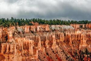 Blick aus Sicht des Bryce Canyon. Utah. Vereinigte Staaten von Amerika foto
