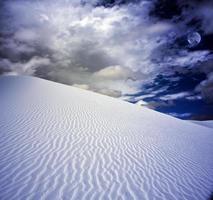 weißer Sand New Mexico USA foto
