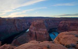 Sonnenuntergang an der Hufeisenband, Grand Canyon foto