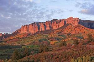 Cimarron Ridge, unverbesserlicher National Forest, Gunnison County, Colorado foto