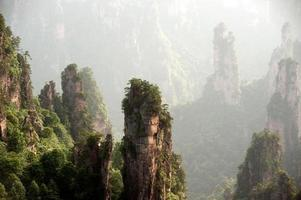 Wulingyuan landschaftlich reizvoller Teil des nationalen Waldteils von Zhangjiajie. foto