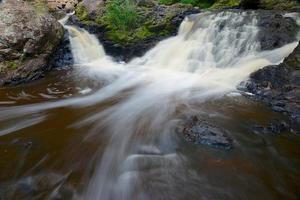 Wasserfall in Nord-Wisconsin foto