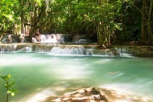 1. Stock des Huaymaekamin-Wasserfalls Provinz Kanchanaburi, Thailand foto