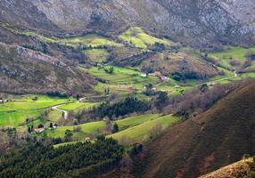 Tal mit einem kleinen Dorf
