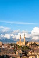 Luftaufnahme des nördlichen Teils von Nikosia, Zypern foto
