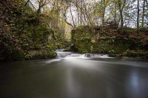 wilder klarer Herbstfluss foto