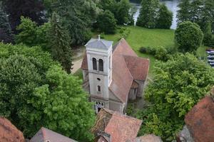 Perle des Bodens Lubusz Lagow - Landschaften des Turms foto