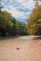 Acheron River Springs und Schlucht in Griechenland foto