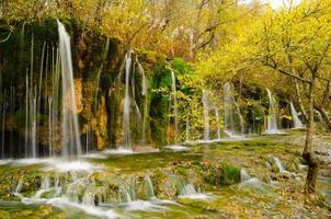 Herbst im Jiuzhaigou Nationalpark, Sichuan, China foto