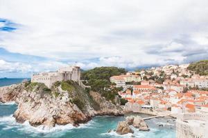 Altstadt Dubrovnik in der Wintersaison foto