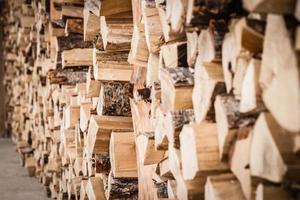 Brennholz stapeln foto