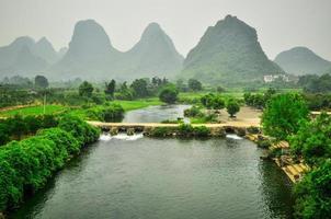 Guilin Li Fluss Karst Berglandschaft in Yangshuo