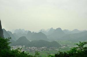 Guilin Li Fluss Karst Berglandschaft in Yangshuo foto