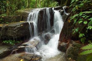 kleiner Wasserfall in der Regenzeit