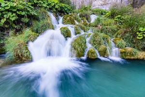 Wasserfälle im Nationalpark Plitvice, Kroatien foto