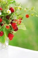 Strauß Erdbeeren foto