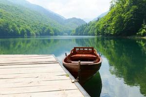 Vintage Holzboot foto
