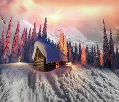Weihnachtshaus foto