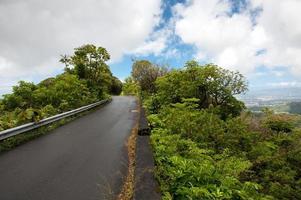 Berggipfelstraße, Oahu, Hawaii foto
