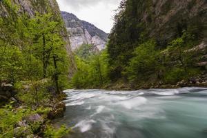 Gebirgsfluss in Abkhazia foto