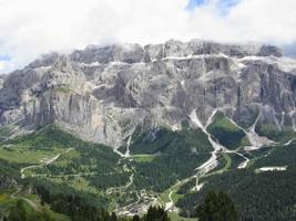 Panoramablick auf die Berge foto