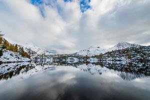 Berge reflektiert