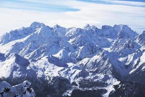 schroffe Berge. foto