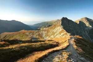 Tatra Berge im Morgengrauen foto