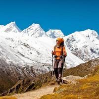 Wandern in den Himalaya-Bergen