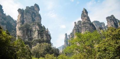 Rock Mountain, Zhangjiajie China foto