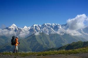 Bergwandern im Sommer foto