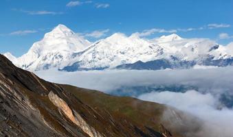 Berg dhaulagiri - dhaulagiri himal - nepal foto