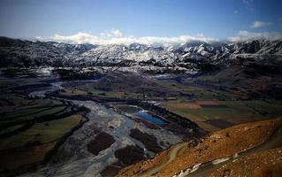 Blick auf die Berge Neuseeland